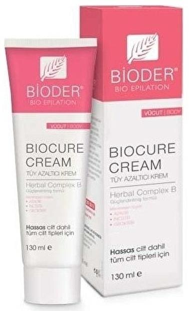 Bioderma BIODER Biocure Vücut için Tüy Azaltmaya Yardımcı Krem 130 ml - Hassas dahil tüm ciltler Renksiz